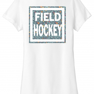 Field Hockey Flower Power back design