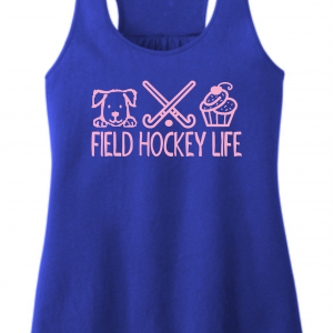 Cupcake Lady BLUE TANK TOP